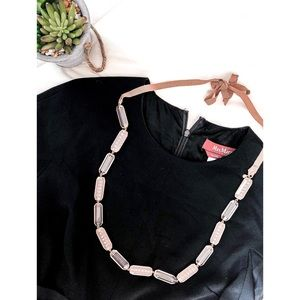 J. Crew Pink Lucite Statement Necklace